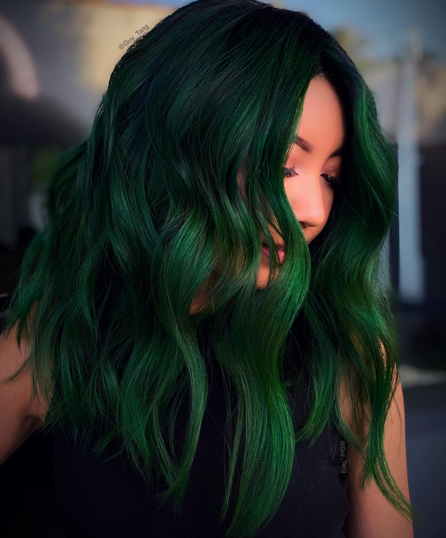 colore capelli verdi irlandese