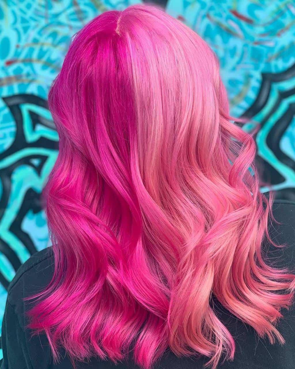 Split hair rosa