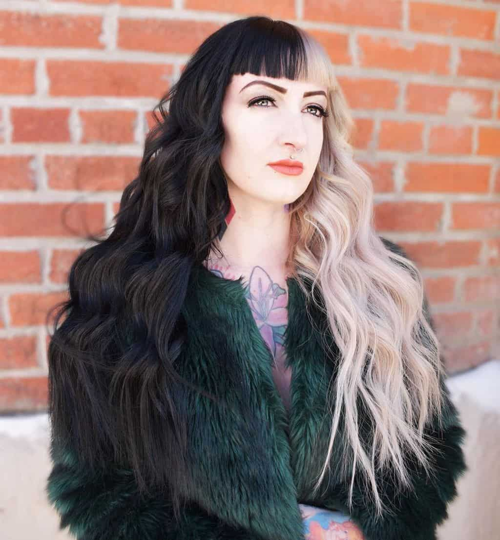 Split hair nero e bianco