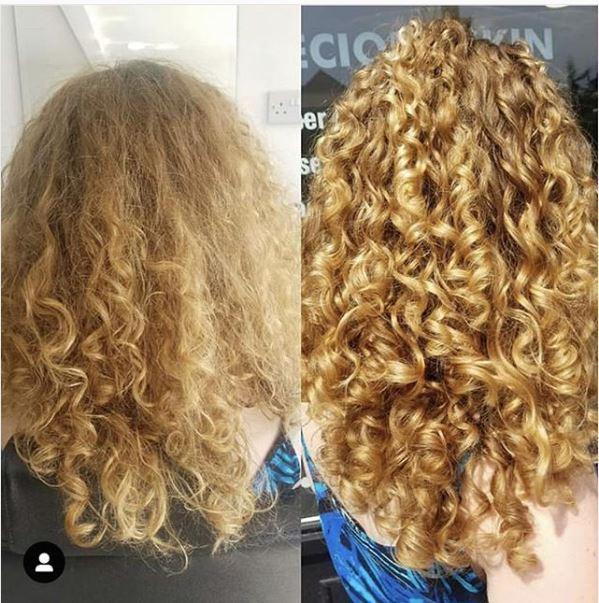 come togliere l'effetto crespo dai capelli ricci