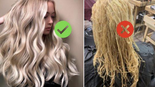 come proteggere i capelli durante la decolorazione