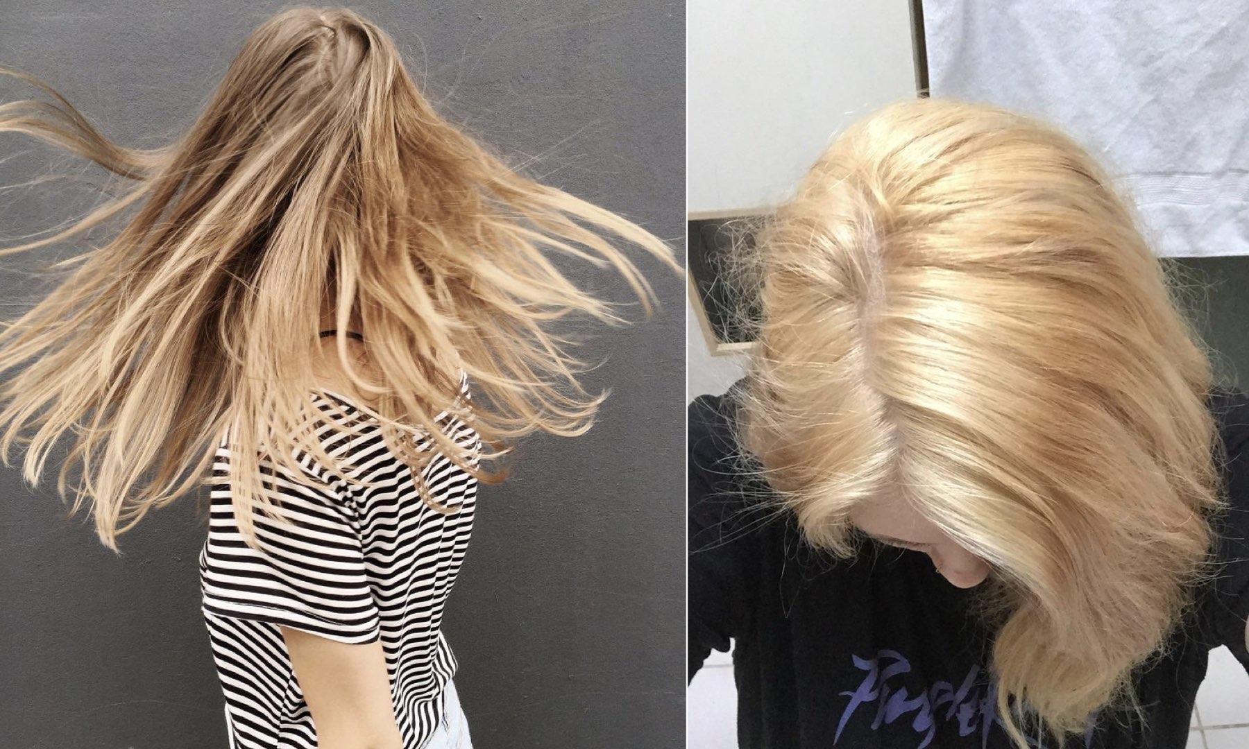 eliminare l'effetto giallo dai capelli