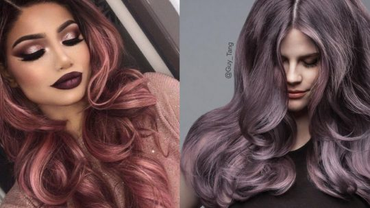 Rose Gold e Dusty lavander